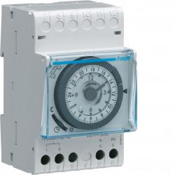 Programmateur modulaire analogique chauf élec avec fil pilote 1 zone 24h 230V (31011) - HAGER