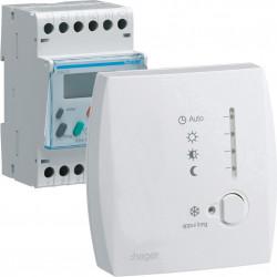 Programmateur modulaire digital chauf élec fil pilote boîtier amb 1 zone 7j 230V (49002) - HAGER