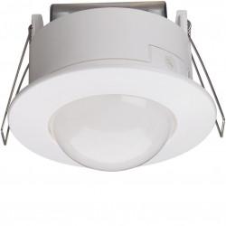 Détecteur de mouvement infrarouge plafond semi-encastré 360° blanc (52371) - HAGER