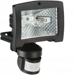 Projecteur halogène à économie énergie 400W avec détecteur infrarouge 200° noir (52541) - HAGER