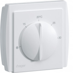 Thermostat ambiance à membrane multi-tension chauf eau ch sortie invers 10A 230V (54185) - HAGER