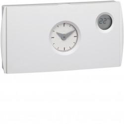 Thermostat ambiance prog analog chauf eau chaude 2 fils sur 24h alim piles (56511) - HAGER