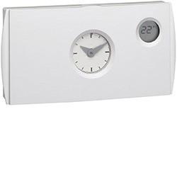 Thermostat ambiance programmable analogique chauf eau chaude 4 fils sur 24h 230V (56512) - HAGER