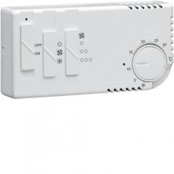 Thermostat ambiance électronique chauf eau chaude ou clim avec ventilation 230V (58102) - HAGER
