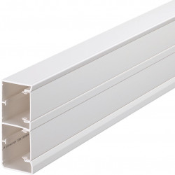Goulotte 2 compartiments GBD 134x54mm PVC blanc (GBD5013109010) - HAGER