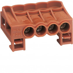 Bornier arrivee phase a cage 4x25mm2 (KN04P) - HAGER