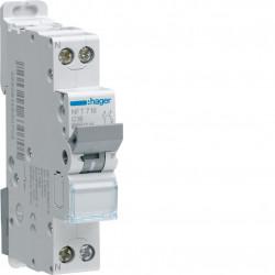 Disjoncteur 1P+N 6-10kA courbe D - 20A 1 module (NGT720) - HAGER