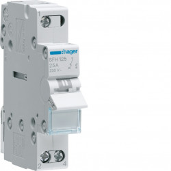 Inverseur modulaire 1 pôle 25A, point commun amont, I-II (SFH125) - HAGER