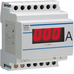 Ampéremètre digital 0-20A branchement et lecture directe (SM020) - HAGER