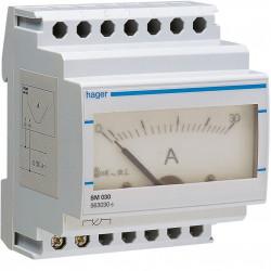 Ampéremètre analogique 0-30A branchement et lecture directe (SM030) - HAGER