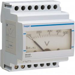 Voltmètre analogique 0-500V (SM500) - HAGER