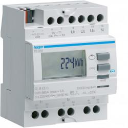 Compteur tri via transformateur d'intensité 50 à 6000/5A sortie KNX (TE370) - HAGER