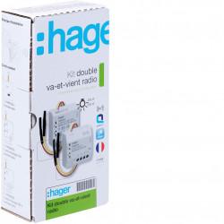Kit double va et vient KNX radio (TRK152M) - HAGER
