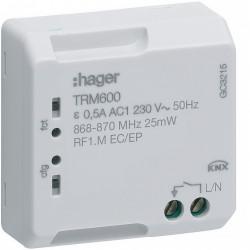 Commande pour télérupteur et minuterie KNX Radio (TRM600) - HAGER