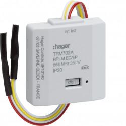 2 entrées alimentation pile KNX radio (TRM702A) - HAGER