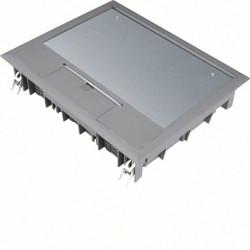 Boîte de sol rectangulaire 18 modules L272xl219mm encastrement L253x200mm grise (VE09057011) - HAGER