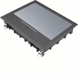 Boîte de sol rectangulaire 18 modules L272xl219mm encastrement L253x200mm noire (VE09059005) - HAGER