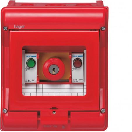 Coffret de sécurité Vector IP55 coup de poing (VE105U) - HAGER