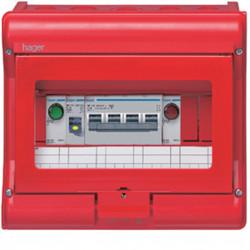 Coffret de sécurité Vector IP55 équipé pour chaufferie (VE109B) - HAGER