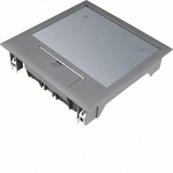 Boîte de sol carrée 12 modules 219x219mm encastrement 200x200mm noire (VQ06057011) - HAGER