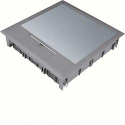 Boîte de sol carrée 24 modules diam 325mm encastrement diam 306mm grise (VQ12057011) - HAGER