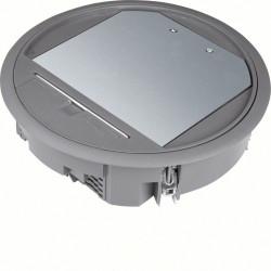 Boîte de sol ronde 12 modules diam 234mm encastrement diam 215mm noire (VR06057011) - HAGER