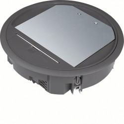 Boîte de sol ronde 12 modules grise (VR06059005) - HAGER