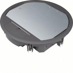 Boîte de sol ronde 24 modules diam 325mm encastrement diam 306mm grise (VR10059005) - HAGER