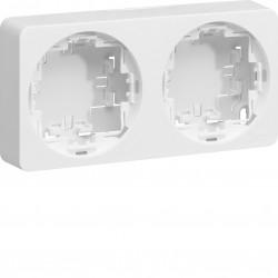 ateha boîte double horizontale ou verticale vide associable (WJA682) - HAGER