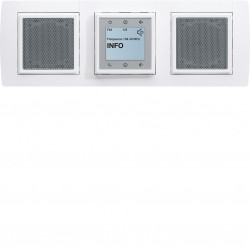 Kallysta Kit radio FM tactile + 2 haut-parleurs encastrés (WK352) - HAGER