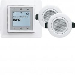 Kallysta Kit radio FM tactile + 2 haut-parleurs plafond (WK353) - HAGER