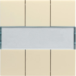 Kallysta enjoliveur 6 touches KNX coloris Dune (WKT906D) - HAGER