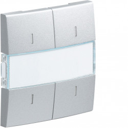 Kallysta enjoliveur 4 touches KNX à voyants coloris Titane (WKT914T) - HAGER
