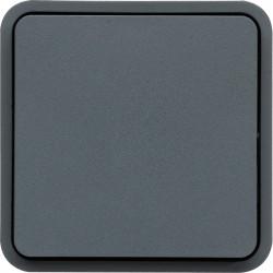 cubyko Poussoir 1O/1F associable gris IP55 (WNA022) - HAGER