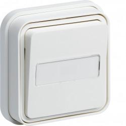 cubyko Poussoir porte-étiquette 1F encastré blanc IP55 (WNE025B) - HAGER
