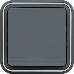 cubyko Prise 2P+T encastré gris IP55 (WNE100) - HAGER