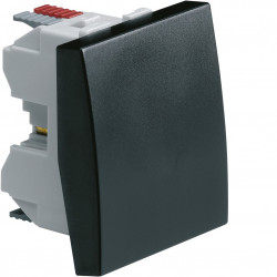 Systo interrupteur va-et-vient 10A 2 modules Noir (WS001N) - HAGER