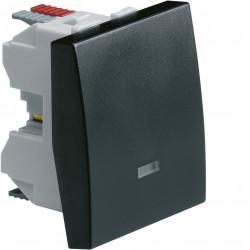 Systo interrupteur va-et-vient à voyant 10A 2 modules Noir (WS002N) - HAGER