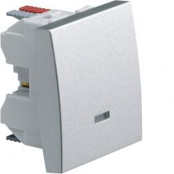 Systo interrupteur va-et-vient à voyant 10A 2 modules Titane (WS002T) - HAGER