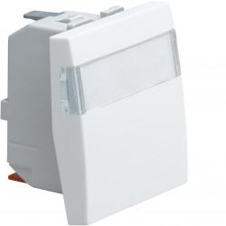 Systo interrupteur va-et-vient porte-étiquette 10A 2 modules Blanc (WS006) - HAGER