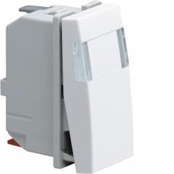 Systo interrupteur va-et-vient porte-étiquette 10A 1 module Blanc (WS014) - HAGER