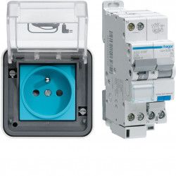 Witty IP55 3KW 2P+T M2 + protection différentielle (XEV080P) - HAGER