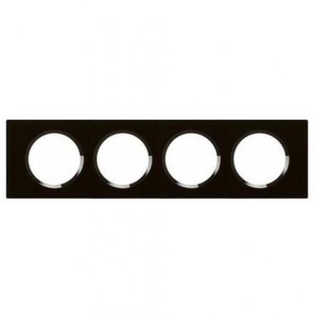 Plaque Céliane - Matières - 4 postes - Verre Piano (069304) - LEGRAND