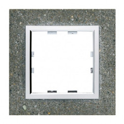 Kallysta épure plaque 1 poste Béton (WK851) - HAGER