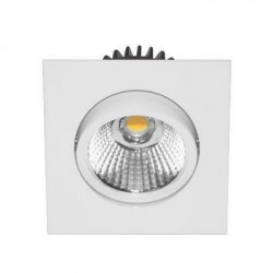 Spot LED Carré 6W 3000K blanc mat - INDIGO