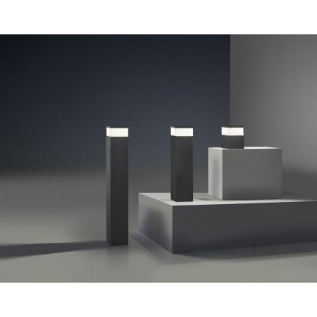 Cubik Lanterne gris E27 60W - LEDS-C4