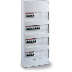 Coffret 4 rangées - 52 modules T5 et + - ABB