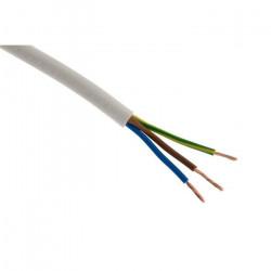 100m de câble souple HO5VV-F 3G1,5 Blanc - Cable