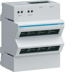 Répartiteur téléphone analogique/RNIS 2x4 sorties RJ45 (TN111) - HAGER