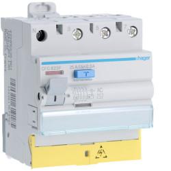 Inter dif 3P+N 25A 300mA AC BD (HAG CFC825F) - HAGER